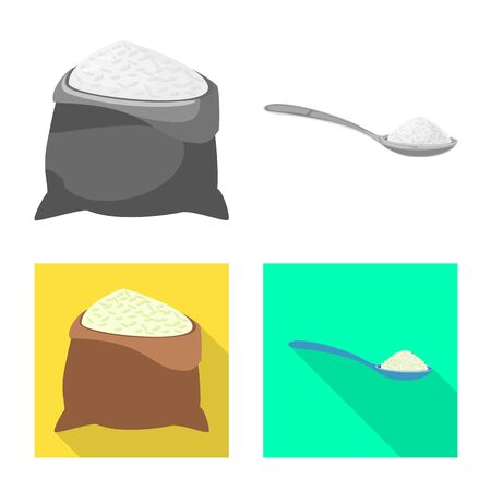 Isolated object of crop and ecological symbol. Collection of crop and cooking stock symbol for web.
