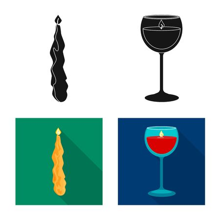 Isolated object of relaxation and flame icon. Collection of relaxation and wax vector icon for stock.