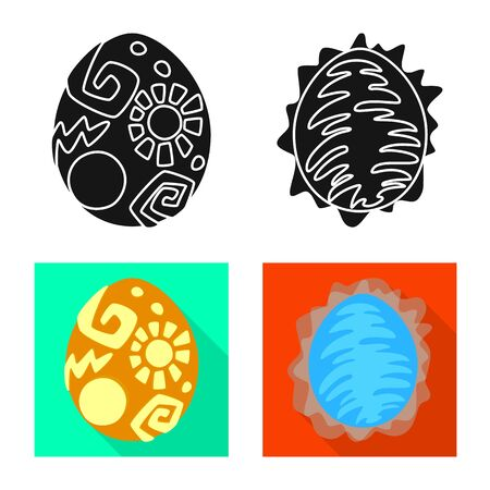 Vector illustration of animal and prehistoric logo. Set of animal and cute stock symbol for web.