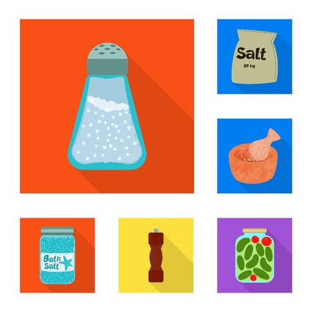 Vector illustration of raw and kitchen logo. Collection of raw and sea stock symbol for web. 写真素材 - 129447169