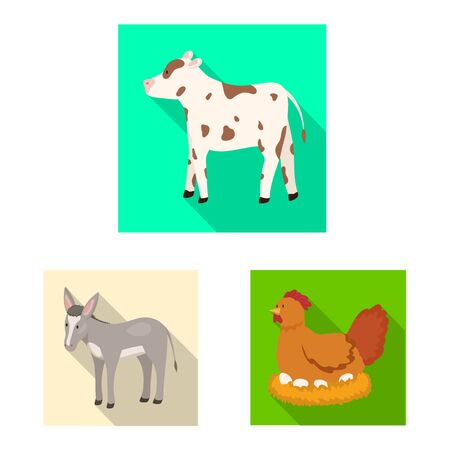 Vector design of breeding and kitchen icon. Collection of breeding and organic vector icon for stock.