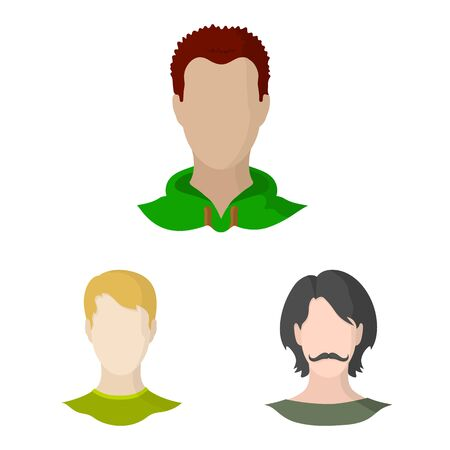 Vector illustration of avatar and dummy icon. Set of avatar and figure stock symbol for web.