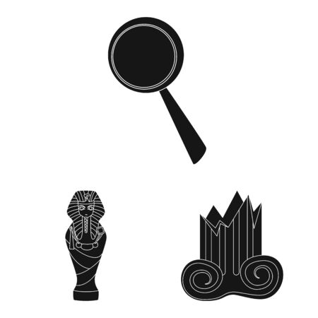 Vector design of museum and attributes. Set of museum and historical stock vector illustration.