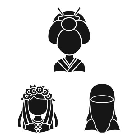 Vector illustration of person and culture symbol. Collection of person and race stock vector illustration. Ilustração