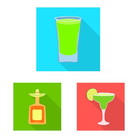Vector design of party and celebration icon. Set of party and Latin stock symbol for web. 向量圖像
