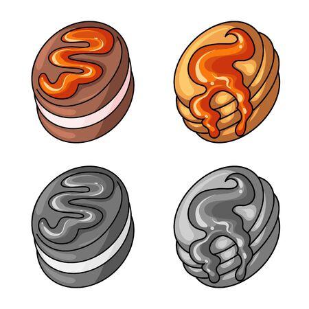 Vector design of confectionery and culinary sign. Collection of confectionery and product vector icon for stock. Illusztráció