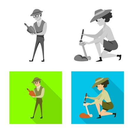 Vector design of story and items sign. Set of story and attributes stock symbol for web.