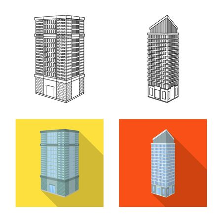 Vector design of construction and building. Collection of construction and estate stock symbol for web.