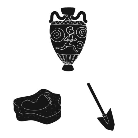 Vector design of museum and attributes. Collection of museum and historical stock vector illustration.