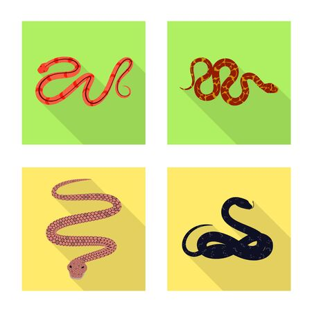 Vector design of skin and reptile. Collection of skin and danger stock vector illustration. 일러스트