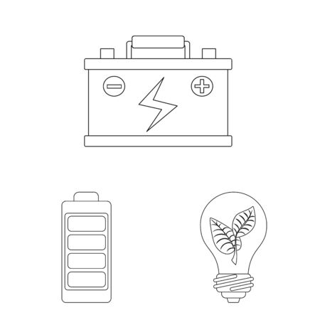 Isolated object of innovation and technology symbol. Set of innovation and nature stock vector illustration.
