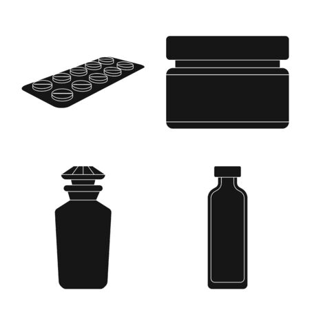 Isolated object of treatment and wellness icon. Collection of treatment and pharmaceutical vector icon for stock.