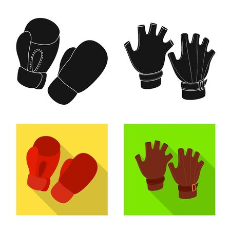 Vector illustration of silhouette and safety sign. Set of silhouette and comfort stock symbol for web.