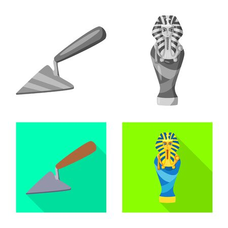 Vector design of story and items icon. Set of story and attributes stock symbol for web. Banco de Imagens - 129532460