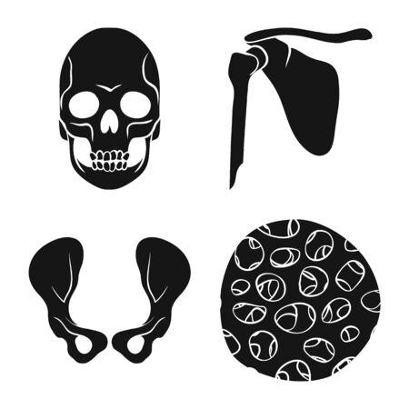 Vector design of biology and medical sign. Set of biology and skeleton stock symbol for web. Banco de Imagens - 129532470