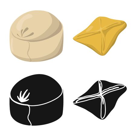 Isolated object of products and cooking symbol. Collection of products and appetizer stock symbol for web.  イラスト・ベクター素材