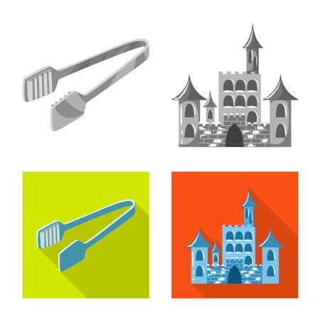 Vector illustration of texture and frozen. Set of texture and transparent stock vector illustration. Illustration