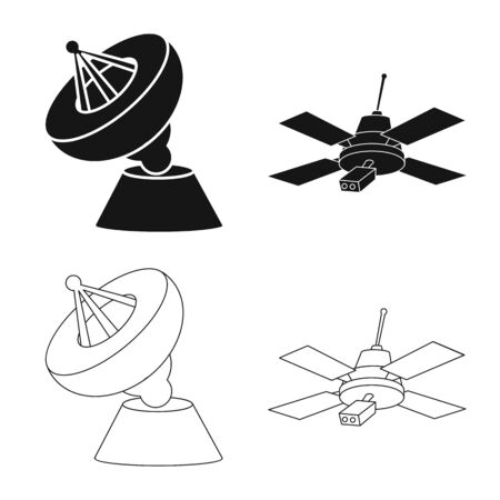 Vector design of astronomy and technology symbol. Collection of astronomy and sky vector icon for stock.