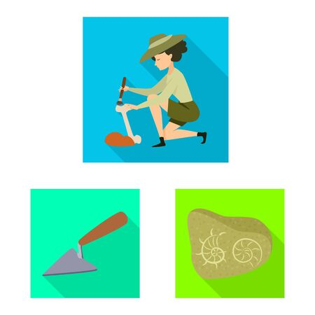 Vector illustration of story and items. Collection of story and attributes vector icon for stock. Banco de Imagens - 129529393