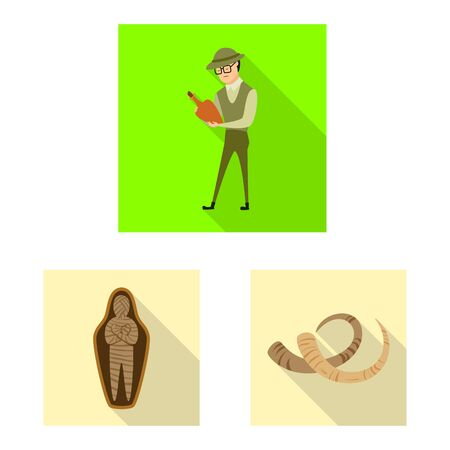 Vector design of story and items. Collection of story and attributes vector icon for stock.