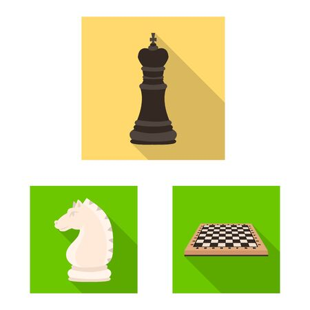 Vector illustration of checkmate and thin sign. Set of checkmate and target stock vector illustration. Illusztráció