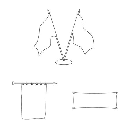 Isolated object of blank and canvas symbol. Collection of blank and textile stock symbol for web.