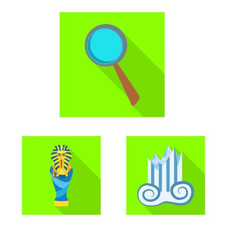 Isolated object of story and items. Collection of story and attributes stock symbol for web.