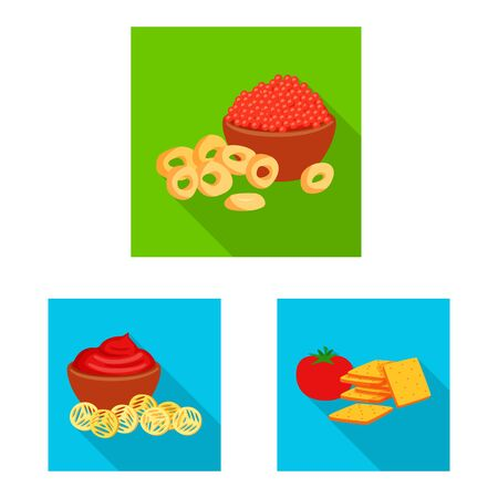 Vector illustration of taste and seasoning. Set of taste and organic vector icon for stock.  イラスト・ベクター素材