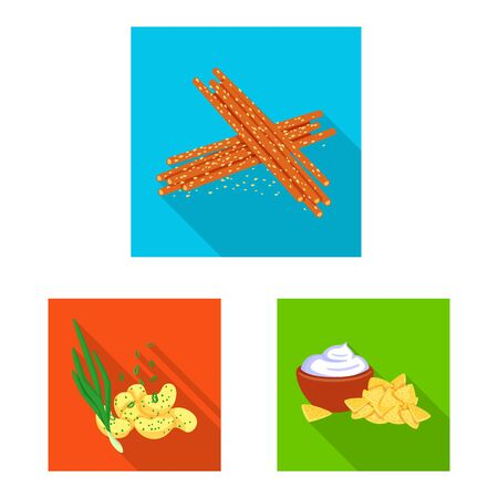 Vector design of taste and seasoning. Set of taste and organic vector icon for stock. Imagens - 129982270