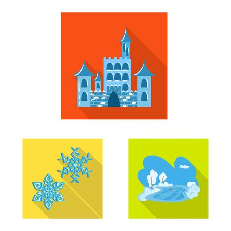 Vector design of texture and frozen. Set of texture and transparent vector icon for stock. Stock Illustratie