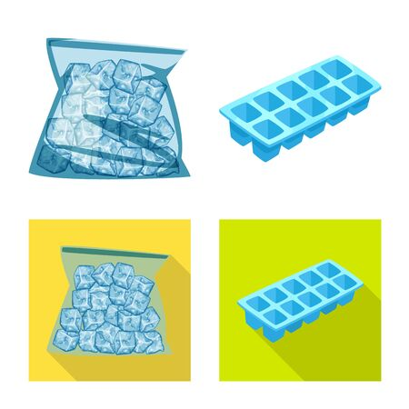 Isolated object of texture and frozen. Set of texture and transparent vector icon for stock.