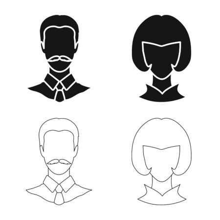 Vector design of professional and photo symbol. Collection of professional and profile vector icon for stock.