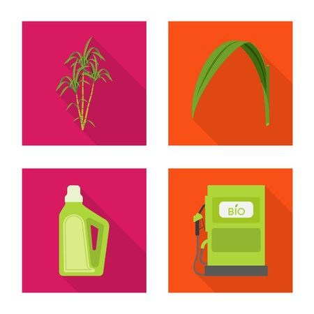 Vector design of plant and plantation. Collection of plant and agriculture vector icon for stock. 向量圖像