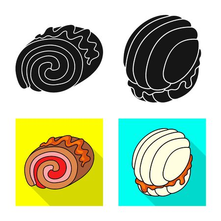 Isolated object of confectionery and culinary. Set of confectionery and product stock vector illustration. Иллюстрация
