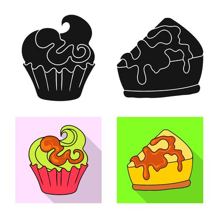Vector design of confectionery and culinary sign. Collection of confectionery and product vector icon for stock. 向量圖像