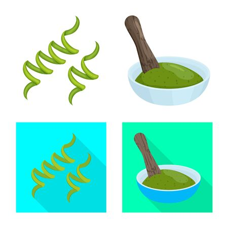 Isolated object of protein and sea icon. Collection of protein and natural stock vector illustration. 写真素材 - 129569907