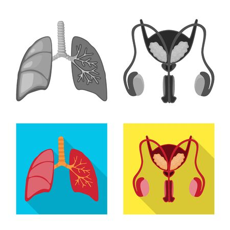 Vector illustration of biology and scientific. Collection of biology and laboratory stock symbol for web. Illustration