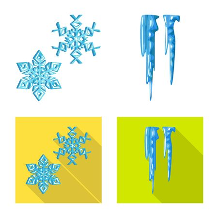 Vector design of texture and frozen symbol. Collection of texture and transparent stock symbol for web. Ilustrace