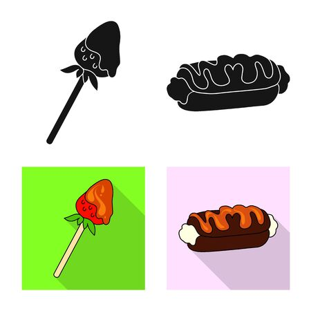 Vector design of confectionery and culinary symbol. Collection of confectionery and product vector icon for stock.