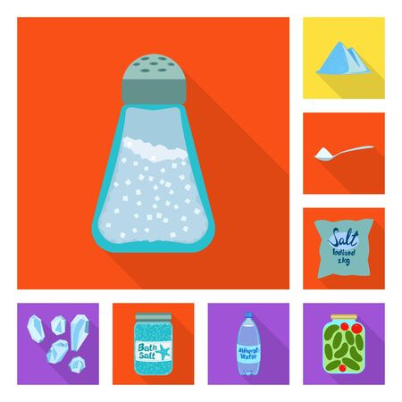 Vector illustration of raw and kitchen. Set of raw and sea vector icon for stock. Stock Illustratie