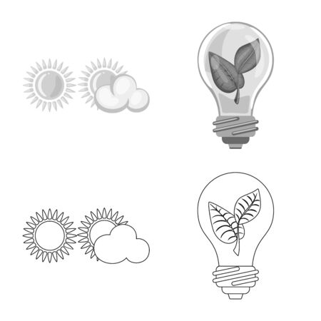 Isolated object of innovation and technology icon. Collection of innovation and nature vector icon for stock.