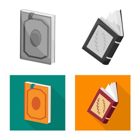 Vector illustration of training and cover. Collection of training and bookstore stock symbol for web.