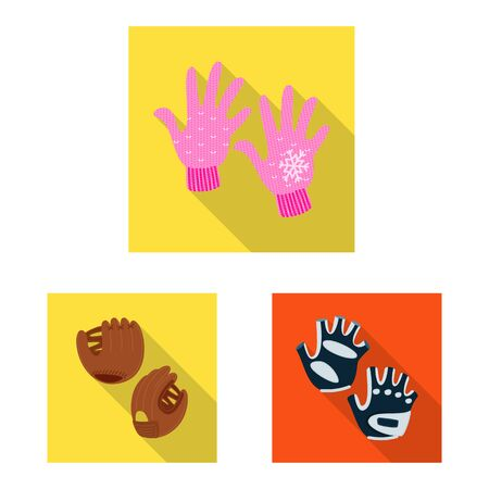 Vector design of own and textile icon. Set of own and safety stock symbol for web.