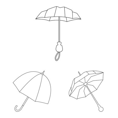 Isolated object of season and open icon. Collection of season and safety stock symbol for web.  イラスト・ベクター素材