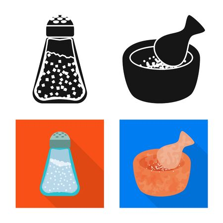 Vector illustration of cooking and sea sign. Collection of cooking and baking stock symbol for web. 写真素材 - 129734702