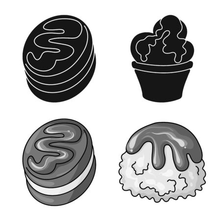 Vector design of confectionery and culinary sign. Collection of confectionery and product vector icon for stock. Векторная Иллюстрация