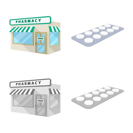 Isolated object of retail and healthcare. Collection of retail and wellness vector icon for stock.
