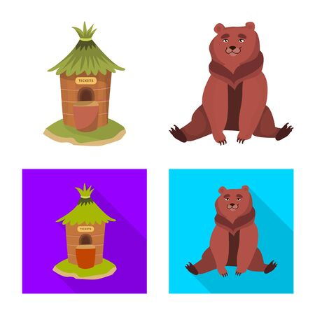 Vector design of nature and fun sign. Collection of nature and entertainment stock symbol for web.  イラスト・ベクター素材