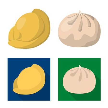 Isolated object of products and cooking sign. Collection of products and appetizer stock symbol for web.  イラスト・ベクター素材