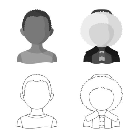 Isolated object of imitator and resident symbol. Set of imitator and culture vector icon for stock. Ilustrace
